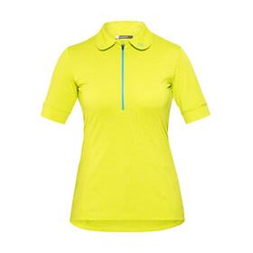 Norrøna fjørå equaliser lightweight  Fietsshirt korte mouwen Dames geel